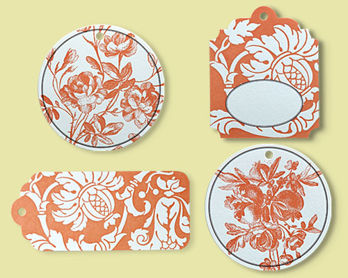 Persimmon gift tags