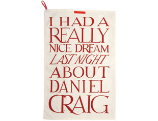 Daniel craig tea towel