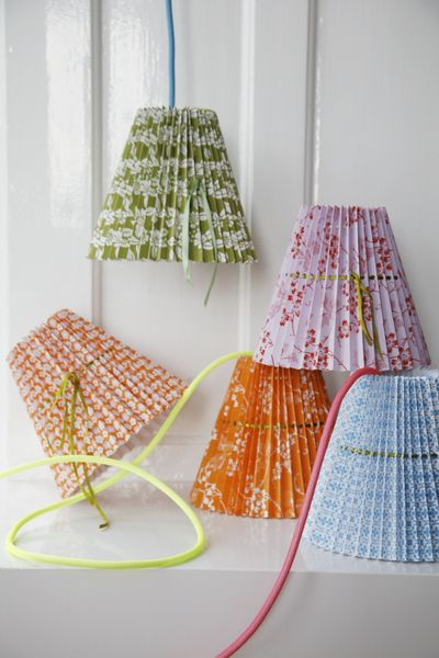 Rie Elise Larsen mixed lamps shades